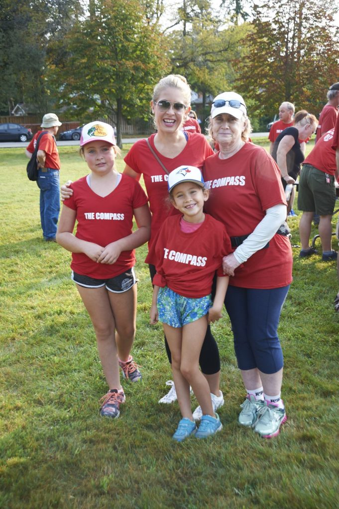 A family at the Compass' annual Walk event.