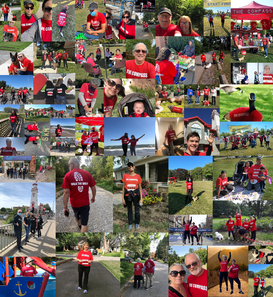 Photo collage of participants in The Compass Walk for 2020