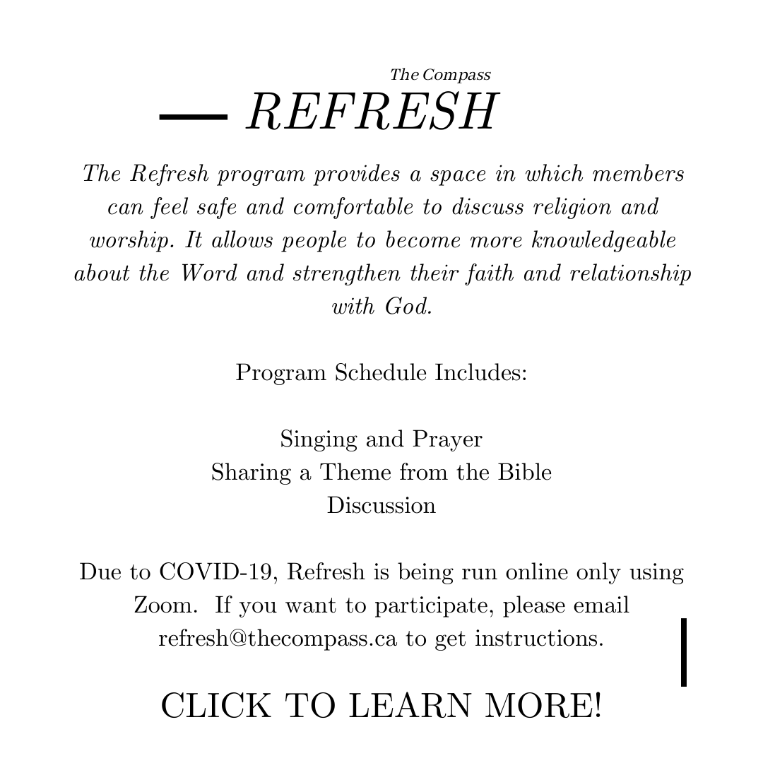 Flyer describing The Compass Refresh program